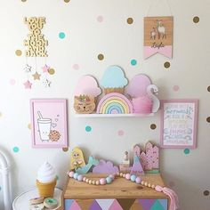 I never tire of this pretty pastel room @mumma_leesha knows where it's at with her gorgeous handmade collection Features our 'milk and cookie love' and 'swim with mermaids' prints. 15% off sale on now! Code: 15OFF. #kidsprints #pastels #auskidshandmade #girlsroominspo #girlsroomdecor #canberracreatives #shopsmall #kidsdecor