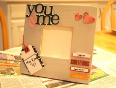 DIY Personalized Photo Frame...So Easy! Just 3 steps to something that is uniquely for you!