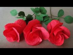 ABC TV | How To Make Rose Paper Flower From Crepe Paper - Easy Craft Tut...