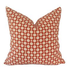 Schumacher Pillow Cover Betwixed Spark Tangerine and white contemporary geometric Orange Pillow Covers, Orange Pillows, Schumacher, Throw Pillows, Contemporary, Den, Cushions, Orange Pillow Cases, Orange Throw Pillows