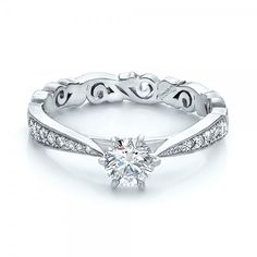 Custom Organic Diamond Engagement Ring #100652