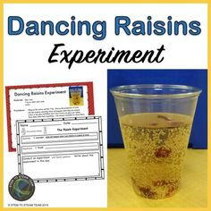 Dancing Raisin Experiment by STEM To STEAM Team | TpT Primary Science, Mad Science, Stem Science, Science Lessons, Science Experiments, Dancing Raisins Experiment, Internet Scavenger Hunt, Second Grade, Grade 2