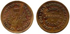 Civil War tokens are token coins that were privately minted and distributed in the United States between 1862 and 1864. They were used mainly in the Northeast and Midwest. The widespread use of the tokens was a result of the scarcity of government-issued cents during the Civil War.