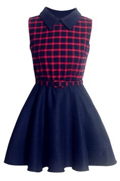 Fashion Plaid Pleated Mini Skater Dress need longer skirt/pants    Supernatural Style | https://pinterest.com/SnatualStyle/