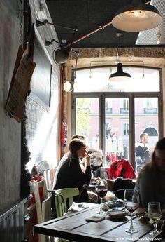 REVOLTOSA TABERNA CASTIZA. Precio medio: 15€  Dirección: Plaza del Rey, 4, Madrid. http://www.madridcoolblog.com/2012/12/revoltosa-taberna-castiza-con-decoracion-industrial/