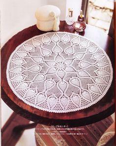 PATRONES GRATIS DE CROCHET: Patrón Tapete, carpeta o centro de mesa a crochet