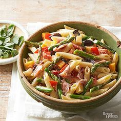 Penne and Asparagus Salad From Better Homes and Gardens, ideas and improvement projects for your home and garden plus recipes and entertaining ideas.