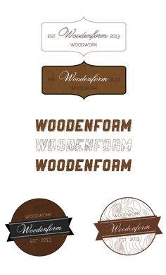woodenform logo by Dmitry Morgunov, via Behance