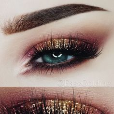 10Points for Gryffindor  Christmas Makeup look Brows: @anastasiabeverlyhills #dipbrowpomade in Chocolate , @nyxcosmetics_de Micro Brow Pencil in Brunette & @eyeko Brow Gel Eyes: @anastasiabeverlyhills #modernrenaissancepalette , @maccosmetics Gold Glitter from the Nutcracker Collection 2017 Lashes: @seduiressentials Chloe  Brushes: @sigmabeauty @zoevacosmetics