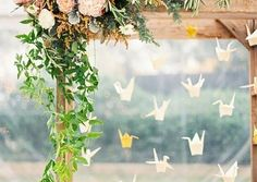 [tps_header]Origami is a very romantic trend that has appeared in the recent years and has already become super popular. Making cute paper cranes unites the guests and relatives even before the wedding, and such hangi...