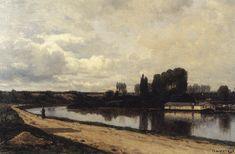 Овер близ Парижа. 1881 - Alexei Bogolyubov Russian Landscape, Military, Painting, Pictures, Art, Photos, Art Background, Painting Art, Kunst