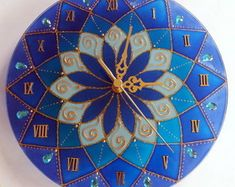 Relógio Mandala Azul