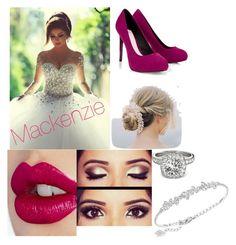 """My wedding day"" by mackenziemaslow ❤ liked on Polyvore featuring Lipsy, Charlotte Tilbury, Swarovski and Allurez"