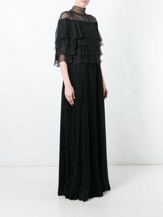 Valentino robe longue à volants