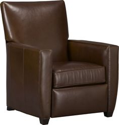 Streeter Leather Recliner  | Crate and Barrel - New addition to the living room... Too bad it takes 3 MONTHS to receive! Can't wait to fall asleep with Lou in this.