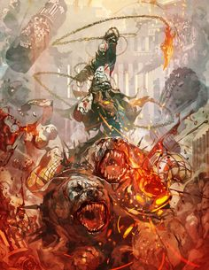 Reynan Sanchez digital artist God Of War Kratos God Of War, God Of War Series, Concept Art World, Cg Art, Video Game Art, Deviantart, Illustrations, Digital Illustration, Character Illustration