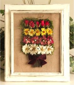 You worked so hard to grow those pretty flowers--don't let them die in your garden. Click on to learn how to preserve them and craft this beautiful, long-lasting Dried Flower Shadow Box. (Wouldn't it make a great gift for someone special?)