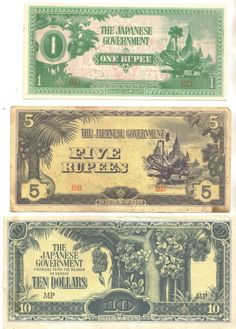 World War II Japanese Invasion Currency