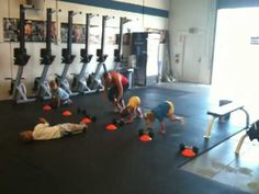 CrossFit Kids - Costa Mesa - deadlift, run, box jump, burpees WOD - YouTube