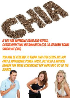 Find Out How The Amazing Chia Seeds Are Able To Cure Digestive Problems Like Acid Reflux, IBS and GI