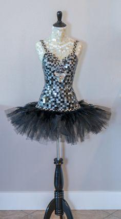 Dress form Black Swan Ballerina Mannequin Dress by Mosaicsbycarrie
