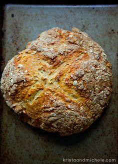Found the irish brown bread I'll be making on Sunday! So simple and healthy. Brew some tea and grab some quality butter and you have yourself a tip top time. Cooking Bread, Bread Baking, Greek Yogurt Oatmeal, Brown Bread Recipe, Irish Brown Bread, Tasty, Yummy Food, Our Daily Bread, Irish Recipes