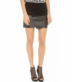 @Who What Wear - Upgrade your going-out look with this leather and suede wrap skirt.  Bop Basics The Blogger Skirt ($88)