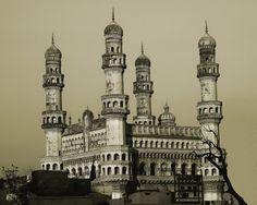 Charminar by Arvind Balaraman.  An ancient building built by the nizams of Hyderabad, India.