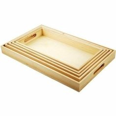 Amazon.com - American Classics Paintable Wooden Tray Set W/Handles 5/Set 6 5/8'X13' To 10 1/8'X16 1/8' -only $13 for the set!