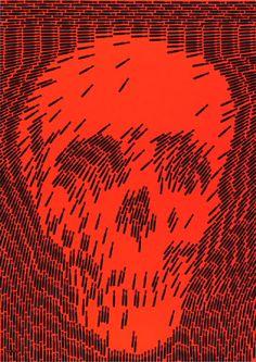 Shigeo Fukuda Anti-war poster circa 1970. #design #politics #posters