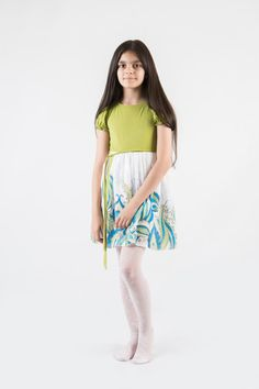 Feather silk dress hand painted for kids. Magic от ArmeniaOnSilk