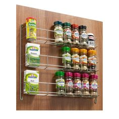 3, 4 and 5 Tier Herb Spice Jar Rack Kitchen Door Cupboard Wall Holder Storage Unit (3 Tier)
