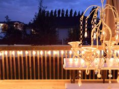 Cheap deck lighting idea