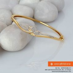 #Beautiful #classy #stunning #gorgeous #gold #diamond #bracelet from our exciting new collection. #classydiamondbracelet Gold Ring Designs, Gold Bangles Design, Gold Earrings Designs, Gold Jewellery Design, Bracelet Designs, Men's Jewellery, Designer Jewellery, Diamond Jewellery, Bridal Jewellery
