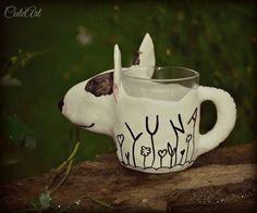 Bullterrier mug made according to a photo....