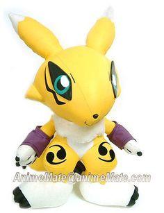 2001 Digimon Tamers DX Renamon Plush