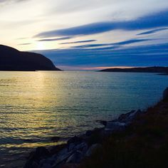 Sunset in Forsøl close to Hammerfest Norway