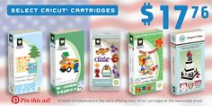 SelectCricut®CartridgesFor17.99