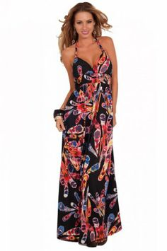 Halter Printed Empire V Neck Plunging Neckline Padded Beach Sun Maxi Long Dress Hot from Hollywood,http://www.amazon.com/dp/B00CJKRXQI/ref=cm_sw_r_pi_dp_Hze5sb0DVECBRF8A