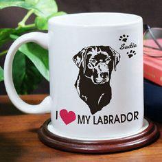 I Love My Dog Coffee Mug #DogBreeds #PersonalizedGifts #Dogs #Gifts #PersonalizedDogGifts