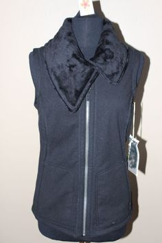 Exofficio Persian Fleece Vest Black Sz Small $100-NWT #Exofficio