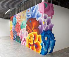 18 Ideas street art flowers graffiti for 2019 Mural Floral, Flower Mural, Flower Wall, Wall Flowers, Giant Flowers, Bright Flowers, Graffiti Artwork, Graffiti Wall, Art Mural