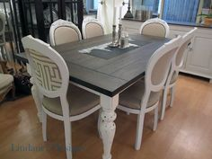 Painted Dining Room Tables | Dining Room Table – Before & After | Houston Furniture Refinishing ...