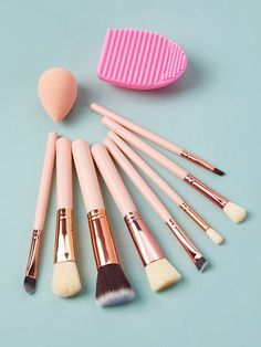 To find out about the Soft Makeup Brushes & Sponge & Brush Egg at SHEIN, part of our latest Makeup Brushes ready to shop online today! Soft Makeup, Beauty Makeup, Eye Makeup, Makeup Tips, How To Find Out, Make Up, Unicorn Makeup, Latest Makeup, Makeup Products