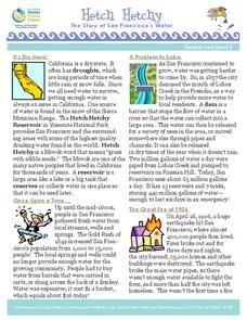 Hetch Hetchy: The Story of San Francisco's Water Worksheet