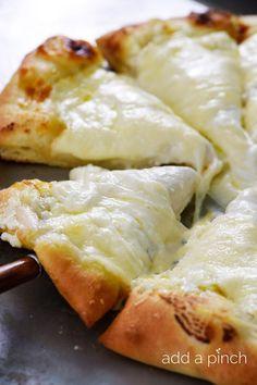 Homemade Three Cheese White Pizza Recipe