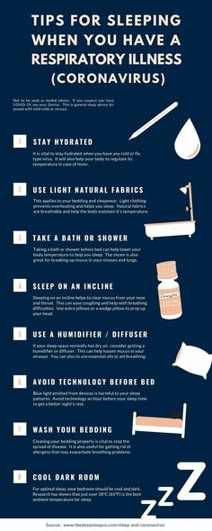 Sleep plays a vital role in the immune system. This article is intended to help people with a mild respiratory illness get quality sleep, to aid recovery. Sleep Help, How To Get Sleep, Good Sleep, Sleep Medicine, Natural Sleep Remedies, Trouble Sleeping, Life Advice, Best Self, Corona