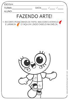 Atividade pronta - Livro infantil, fazendo arte