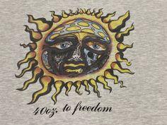Sublime 40 oz. To Freedom T Shirt Burning Sun Stoner Logo Long   Etsy Vintage Band T Shirts, Ska Punk, Punk Rock, Rock Bands, Freedom, Vintage Outfits, Sun, The Originals