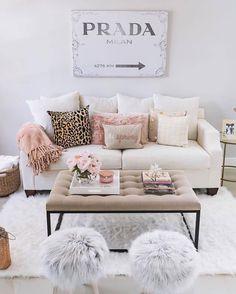 Glamorous pink living room